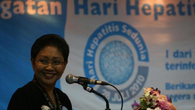 Menteri Kesehatan RI, Endang Rahayu Sedyaningsih.