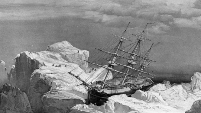 Ilustrasi kapal Sir John Franklin di Kanada