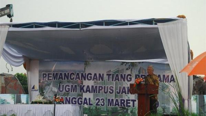Rektor UGM resmikan pembangunan Kampus Jakarta pada Maret 2009