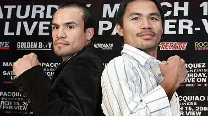 Juan Manuel Marquez (kiri) & Manny Pacquiao