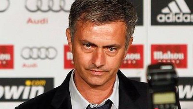 Jose Mourinho jumpa pers di Madrid