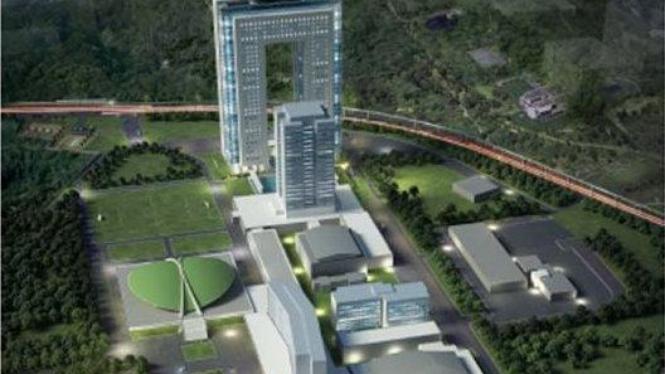 Rancangan gedung baru DPR yang bernilai Rp1,1 triliun