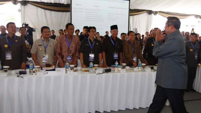 Presiden berpamitan saat penutupan Rapat Kerja Nasional III