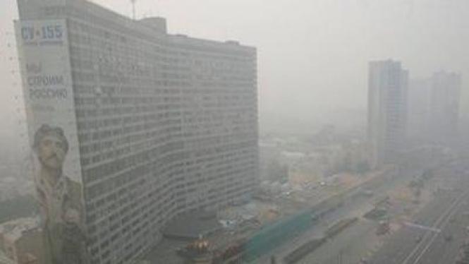 Kabut asap selimuti Kota Moskow, Rusia