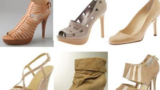 Sepatu warna nude