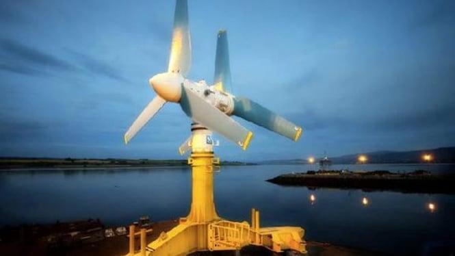 Turbin pembangkit listrik tenaga pasang The Atlantis Resources AK1000