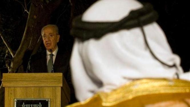 Shimon Peres dalam acara buka puasa bersama di Yerusalem, Israel