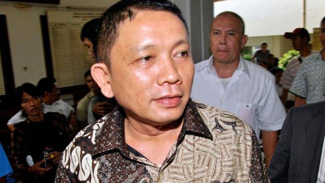 Haposan Hutagalung bersiap Mengikuti Sidang di PN Jakarta Selatan