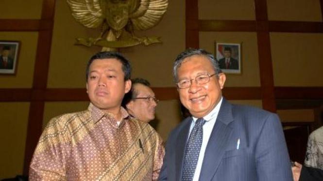 Gubernur BI Darmin Nasution & politisi Golkar Nusron Wahid