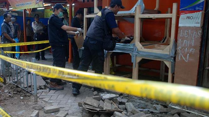 Lokasi ledakan gas di Jalan Cikini, Jakarta Pusat