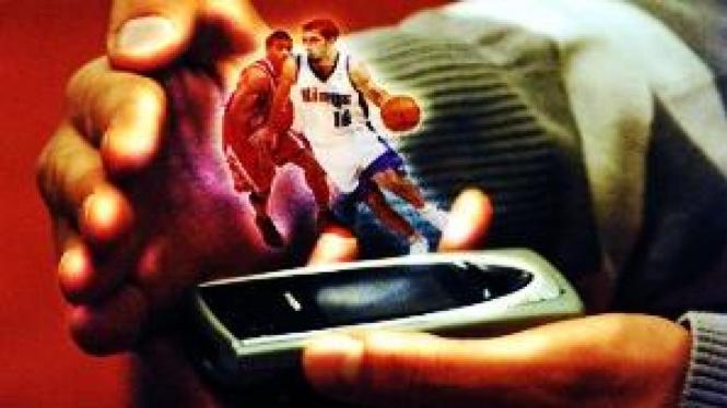 Ilustrasi aplikasi hologram pada ponsel