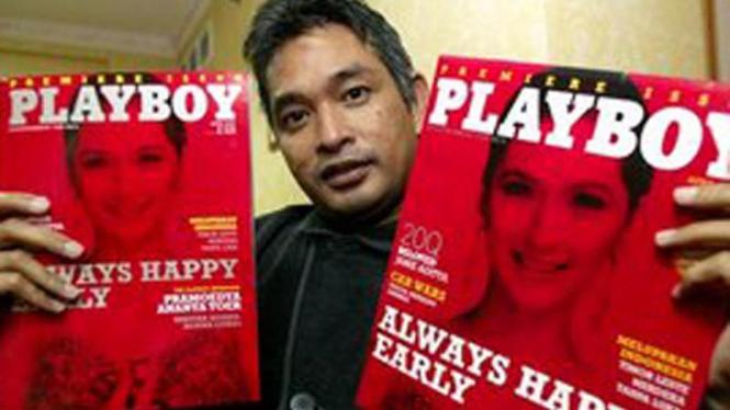 Erwin Arnada, pemimpin redaksi majalah Playboy Indonesia