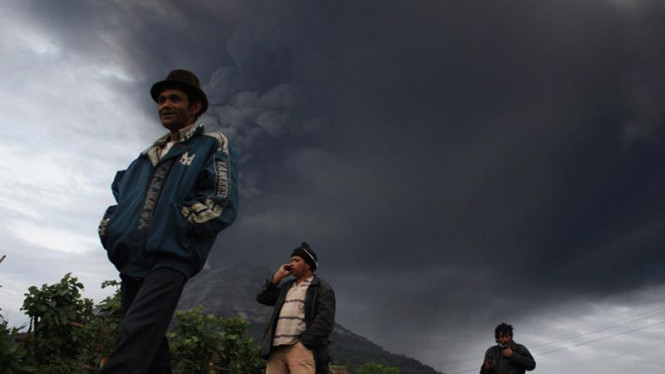 Warga sekitar Gunung Sinabung