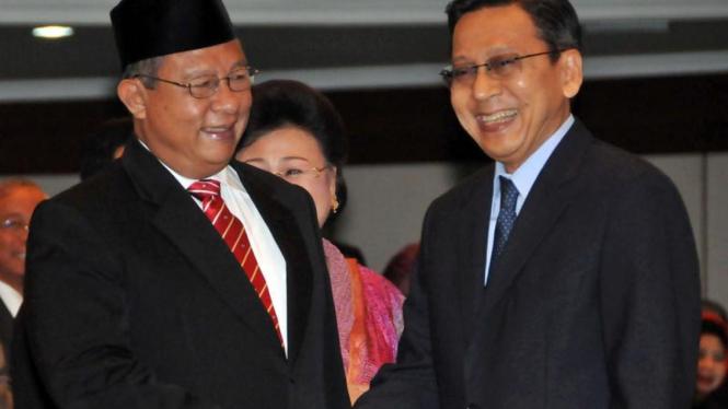 Gubernur BI, Darmin Nasution dan Wapres Boediono