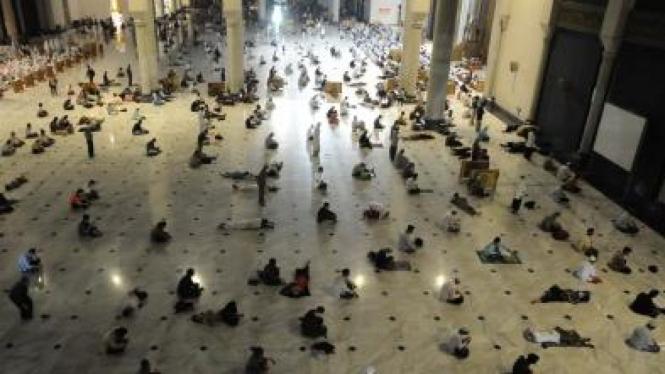Beritikaf di malam Ramadhan