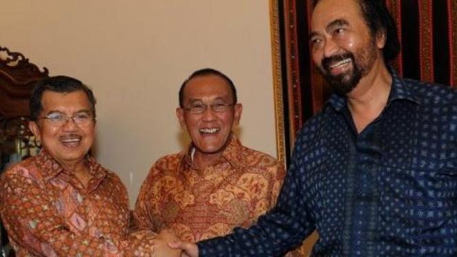 Jusuf Kalla, Aburizal Bakrie dan Surya Paloh