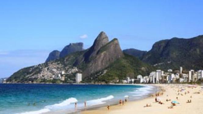 Pemandangan salah satu pantai di Brasil