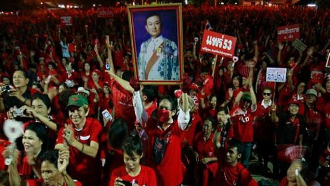 Demonstrasi pendukung Thaksin Shinawatra di Chiang Mai, Thailand