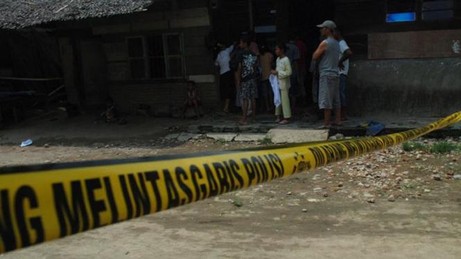 Rumah Tersangka Terduga Teroris Di Medan