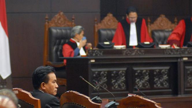 Sidang di Mahkamah Konstitusi.