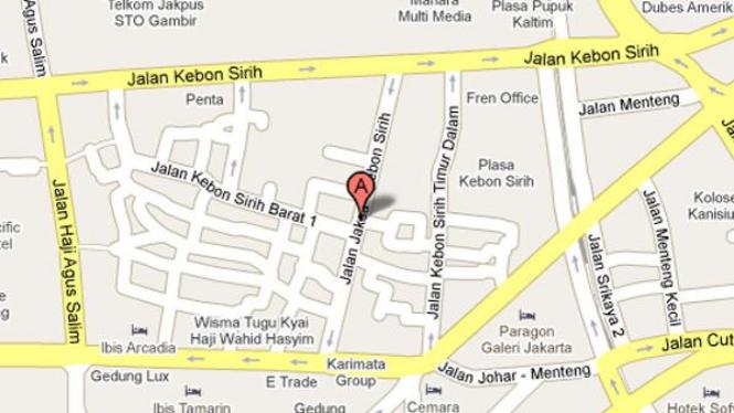 Peta Jalan Jaksa, Jakarta