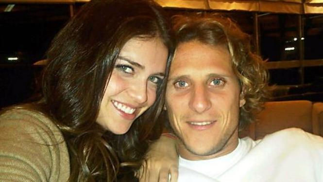 Diego Forlan & pacarnya, Zaira Nara