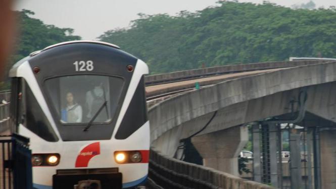 Salah satu moda MRT di Malaysia