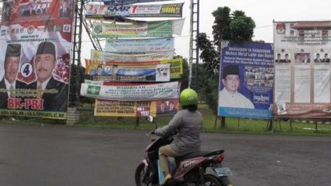 Baliho peserta Pilkada Kota Depok
