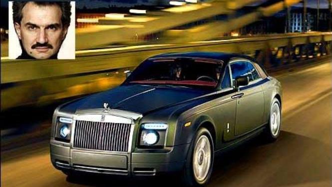 Pangeran Alwalid Bin Saud Al Talal dengan Rolls-Royce Phantom