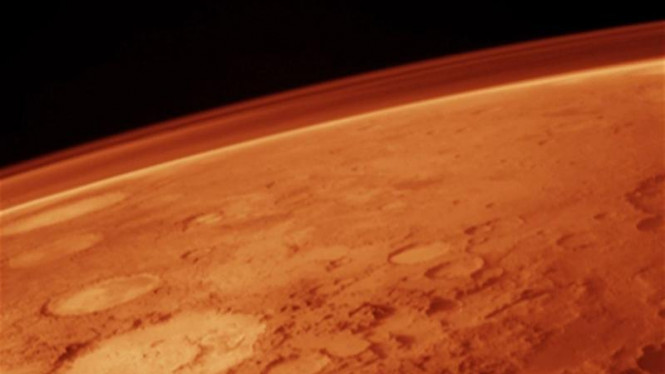 Permukaan Planet Mars.