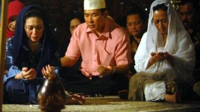 Siti Hediati, Hutomo Mandala Putra, Siti Hutami di Makam Soeharto