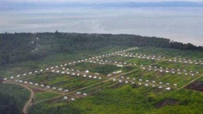 Permukiman khusus transmigrasi dan pendatang di Suaby, Wasior, Papua Barat.
