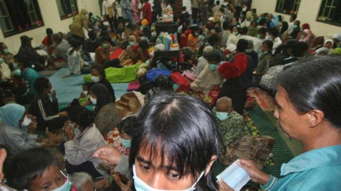Pengungsi letusan Gunung Merapi