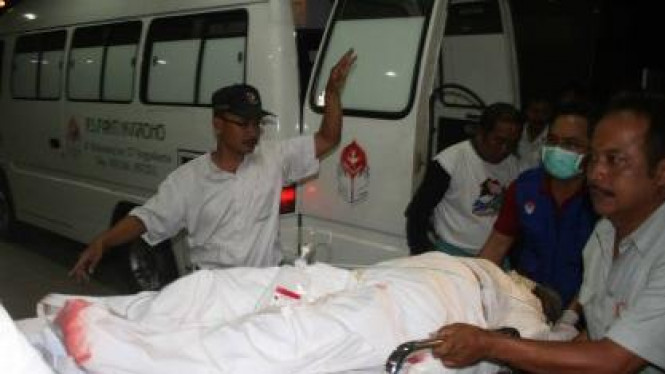 Korban letusan Gunung Merapi di RS Sardjito Yogyakarta