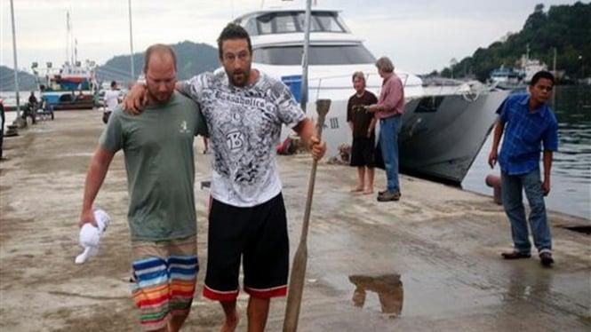 Dua warga Australia yang selamat dari tsunami di Mentawai