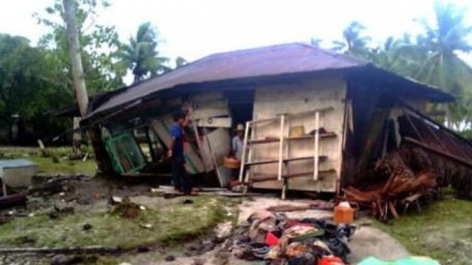 Kondisi Desa Pasapuat, Pagai Utara, Kepulauan Mentawai, pasca tsunami
