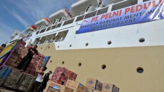 PT Pelni kirim bantuan untuk Mentawai melalui KM Labobar