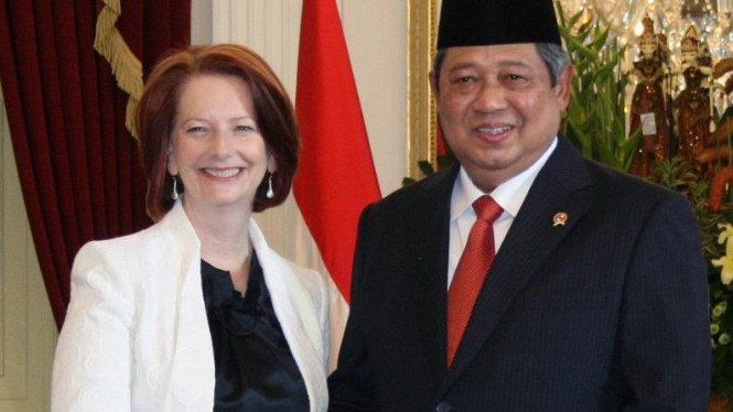 Presiden Susilo Bambang Yudhoyono dan Perdana Menteri Australia Julia Gillard