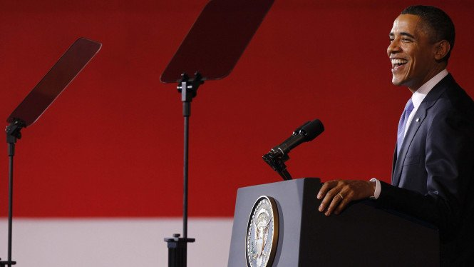 Presiden Obama di kampus Universitas Indonesia (UI)