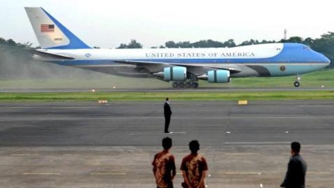 Pesawat Air Force One yang dinaiki Presiden Amerika Serikat