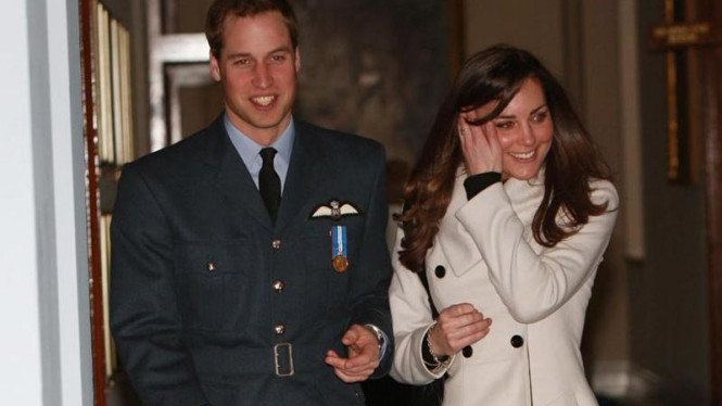 Pangeran William bersama Kate Middleton