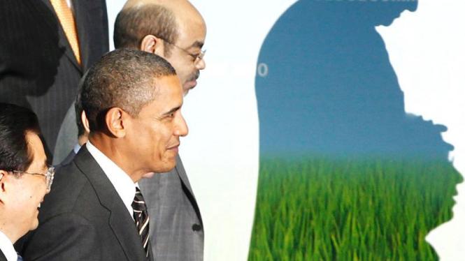Barack Obama, Hu Jintao, Meles Zenawi di KTT G20
