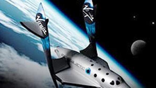 SpaceShipTwo, konsep pesawat yang mengangkut manusia ke luar angkasa