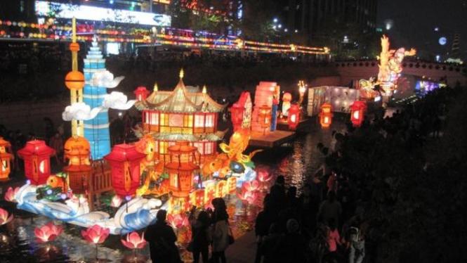 Festival Lentera Cheonggyecheon di Seoul, Korea Selatan