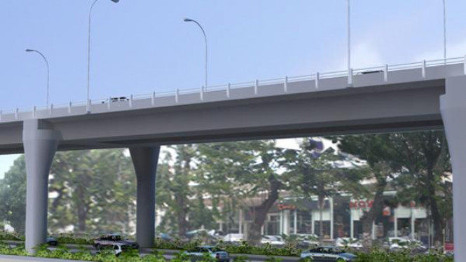 Maket jalan layang Blok M - Cipete
