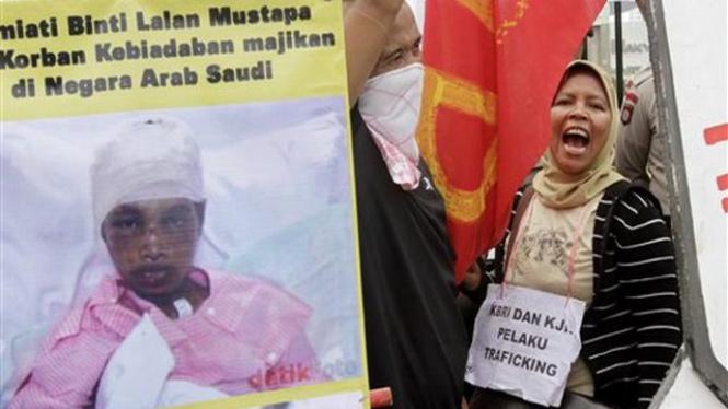 Demonstrasi perlindungan TKI di Jakarta, 23 November 2010