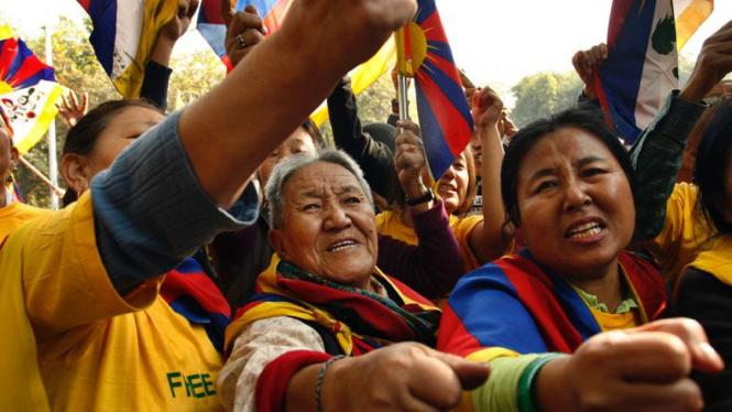 Demo kemerdekaan Tibet