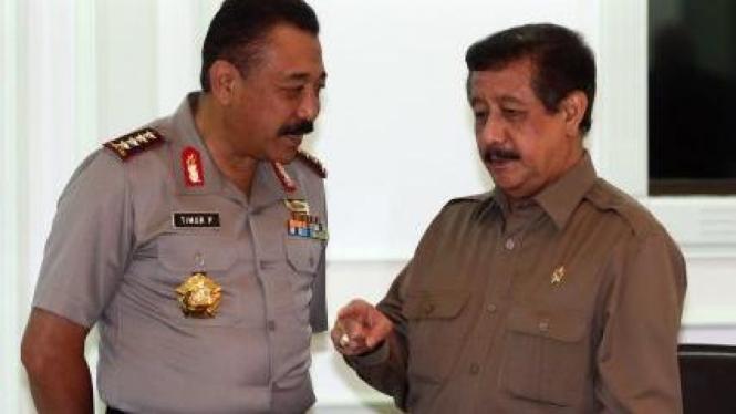 Kapolri Jenderal Timur Pradopo dan Jaksa Agung Basrief Arief