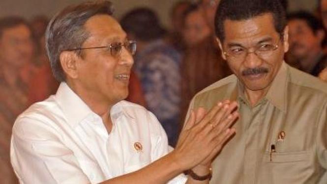 Boediono dan Gamawan Fauzi