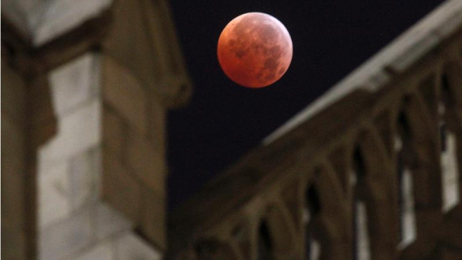 Gerhana bulan di New York, AS